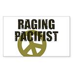 Raging Pacifist Rectangle Sticker 10 pk)