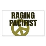Raging Pacifist Rectangle Sticker
