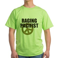 Raging Pacifist Green T-Shirt