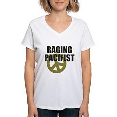 Raging Pacifist Women's V-Neck T-Shirt