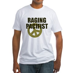 Raging Pacifist Fitted T-Shirt