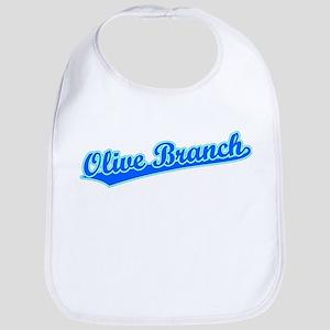 Retro Olive Branch (Blue) Bib
