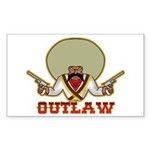 Outlaw Rectangle Sticker