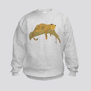 Lazy Leopard Kids Sweatshirt