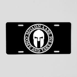 Molon Labe Aluminum License Plate