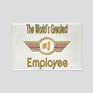 Number 1 Employee Rectangle Magnet