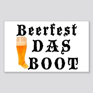 BeerFest Das Boot Rectangle Sticker