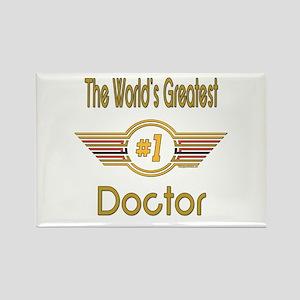 Number 1 Doctor Rectangle Magnet