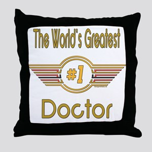 Number 1 Doctor Throw Pillow