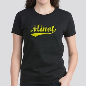 Vintage Minot (Gold) Women's Dark T-Shirt
