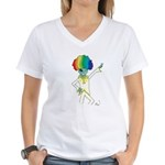 Disco Alien Women's V-Neck T-Shirt