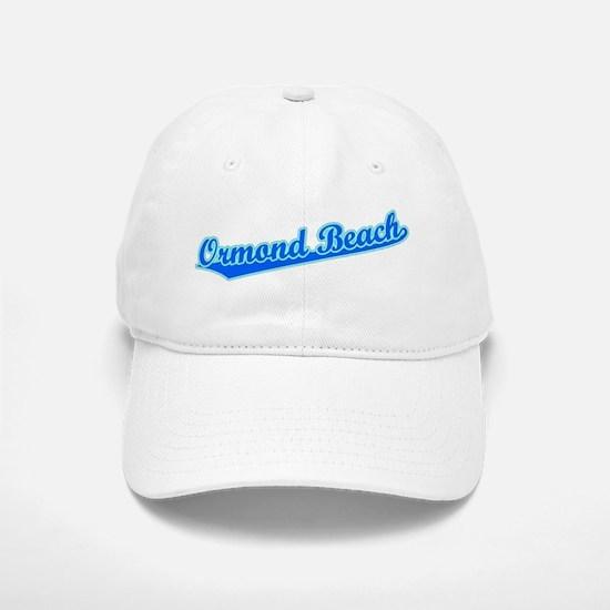 Retro Ormond Beach (Blue) Baseball Baseball Cap