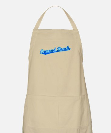 Retro Ormond Beach (Blue) BBQ Apron