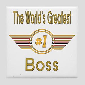 Number 1 Boss Tile Coaster