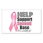 Help Support 2nd Base Rectangle Sticker 10 pk)