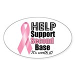 Help Support 2nd Base Oval Sticker