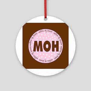 Polka Dot Matron of Honor Ornament (Round)