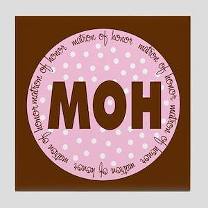 Polka Dot Matron of Honor Tile Coaster