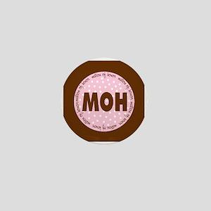 Polka Dot Matron of Honor Mini Button