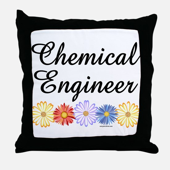 Chemical Engineer Asters Throw Pillow