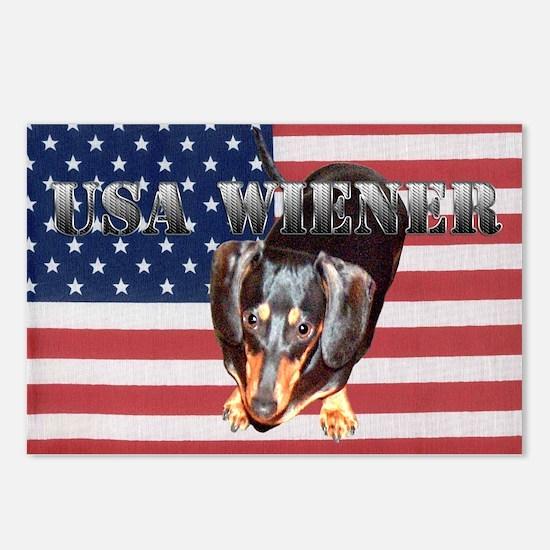 USA Wiener 2 Postcards (Package of 8)