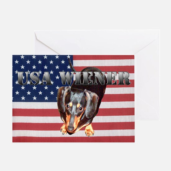 USA Wiener 2 Greeting Card