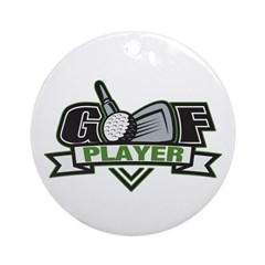 Golf Player Ornament (Round)