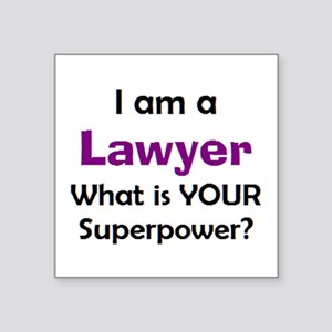 "lawyer Square Sticker 3"" x 3"""