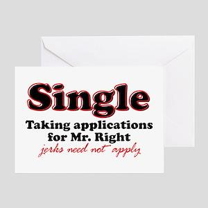Single jerks not apply Greeting Card