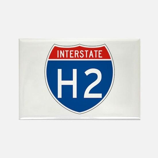 Interstate H2, USA Rectangle Magnet