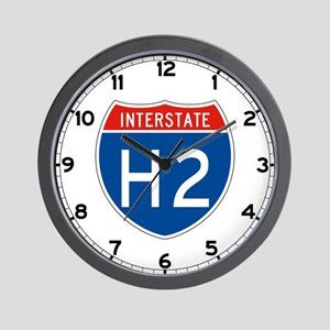 Interstate H2, USA Wall Clock