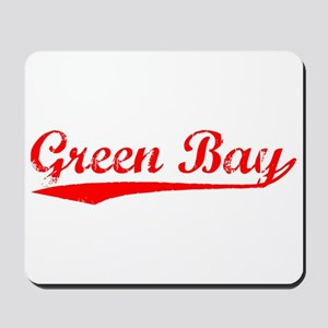 Vintage Green Bay (Red) Mousepad