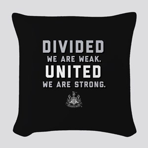 Newcastle United We Are Strong Woven Throw Pillow