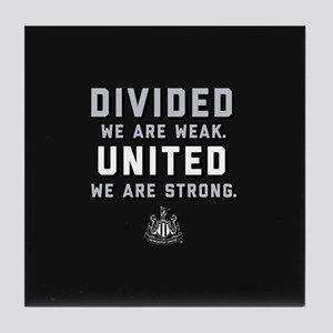 Newcastle United We Are Strong Tile Coaster