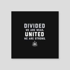 """Newcastle United We Are Str Square Sticker 3"""" x 3"""""""