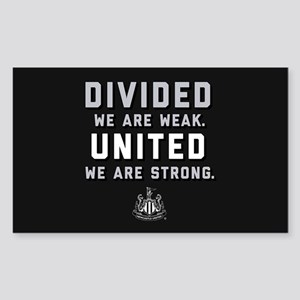 Newcastle United We Are Strong Sticker (Rectangle)