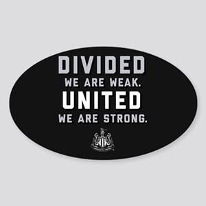 Newcastle United We Are Strong Sticker (Oval)