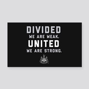 Newcastle United We Are Stron Rectangle Car Magnet