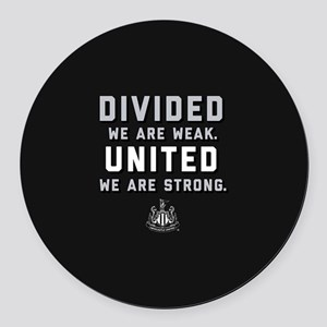Newcastle United We Are Strong Round Car Magnet