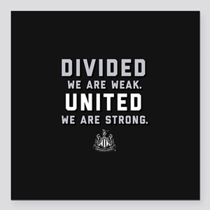 "Newcastle United We Are Square Car Magnet 3"" x 3"""