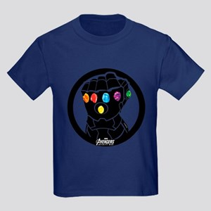 Avengers Infinity War Gauntlet Kids Dark T-Shirt