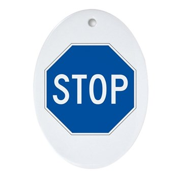 Stop, Hawaii (US) Oval Ornament