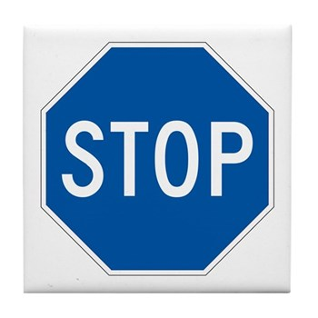 Stop, Hawaii (US) Tile Coaster