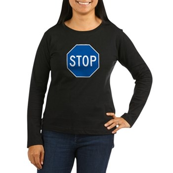 Stop, Hawaii (US) Women's Long Sleeve Dark T-Shirt