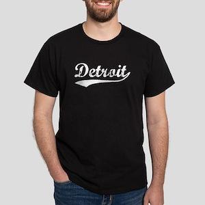 Vintage Detroit (Silver) Dark T-Shirt