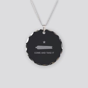 Come And Take It Necklace Circle Charm