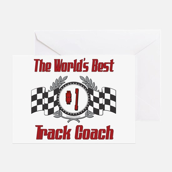 Racing Track Coach Greeting Card