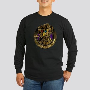 Avenger Infinity War Gold Long Sleeve Dark T-Shirt