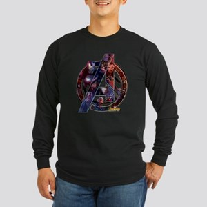 Avengers Infinity War Sym Long Sleeve Dark T-Shirt