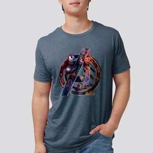 Avengers Infinity War Symbo Mens Tri-blend T-Shirt